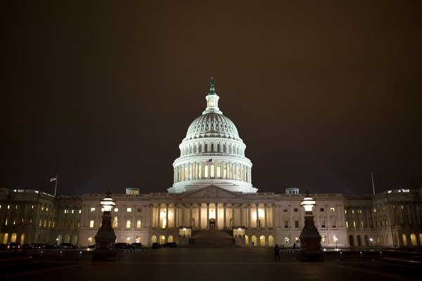 The lights of the U.S. Capitol