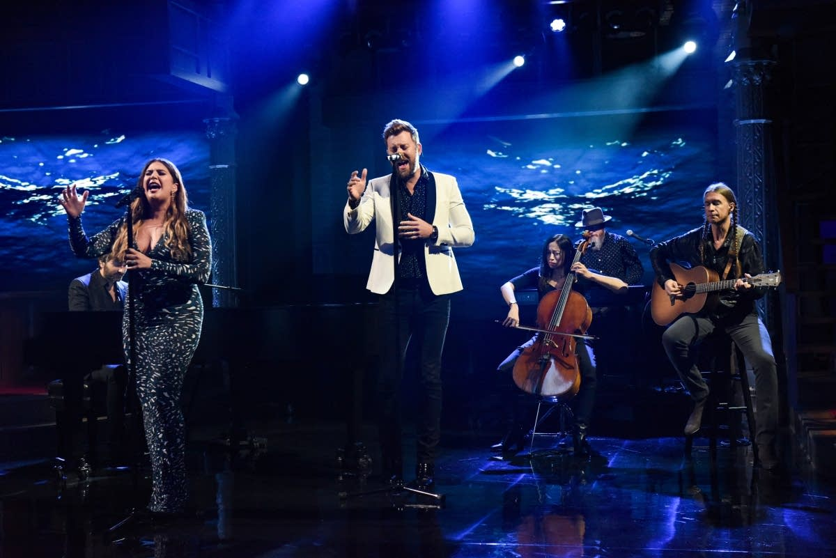 Lady Antebellum perform on 'The Late Show with Stephen Colbert'