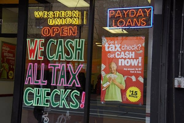 A payday loans store seen open.