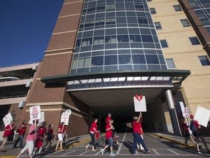 Hundreds of Allina nurses went on strike today.