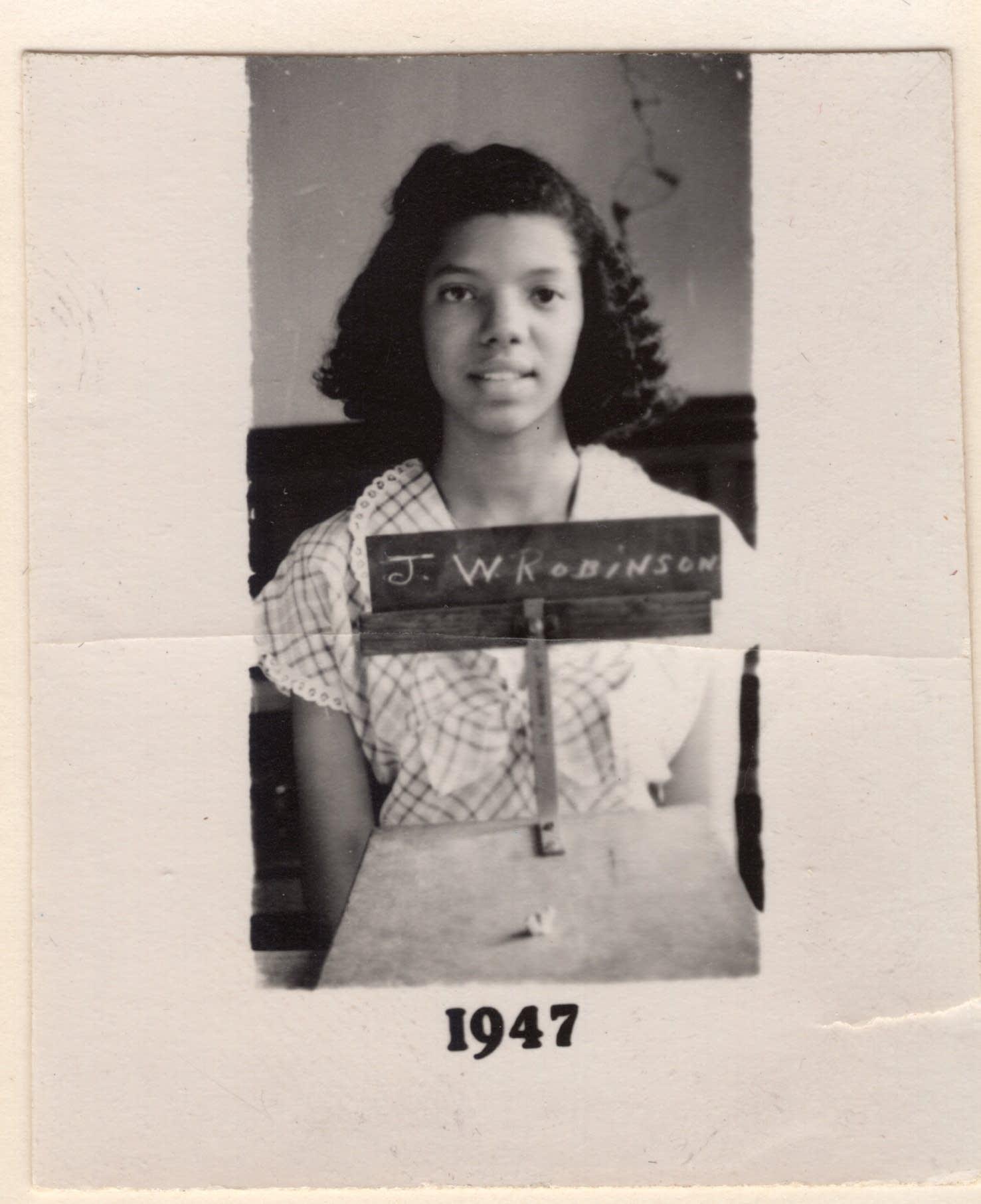 Josie Johnson in her freshman year at Fisk University in 1947.