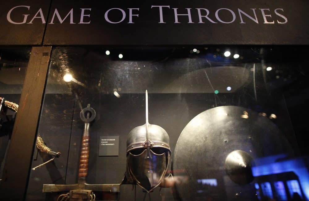 Weapons from the Game of Thrones on display