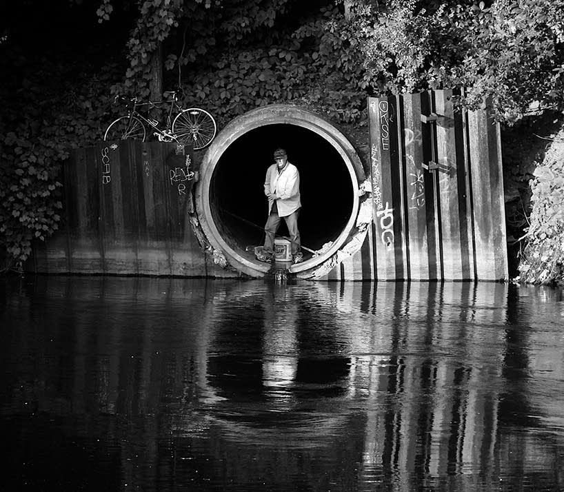 Secret fishing hole, Nicollet Island, Minneapolis.