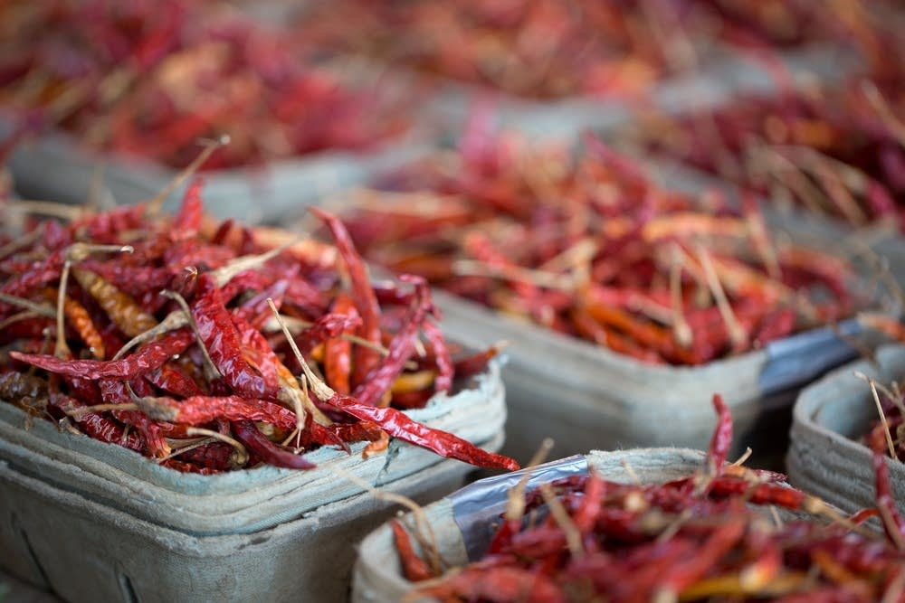 Chili peppers at the downtown St. Paul Farmers Mar