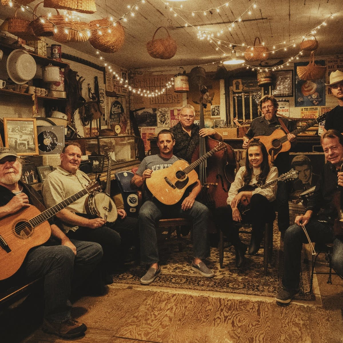 Sturgill Simpson and a crew of bluegrass players