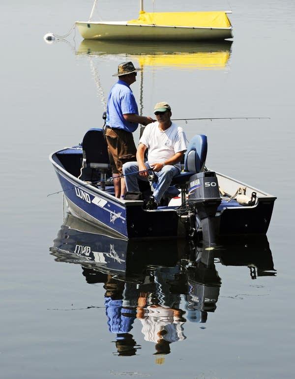 Fishing on Lake Calhoun