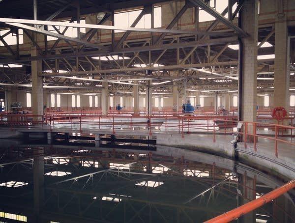 The Minneapolis water treatment plant