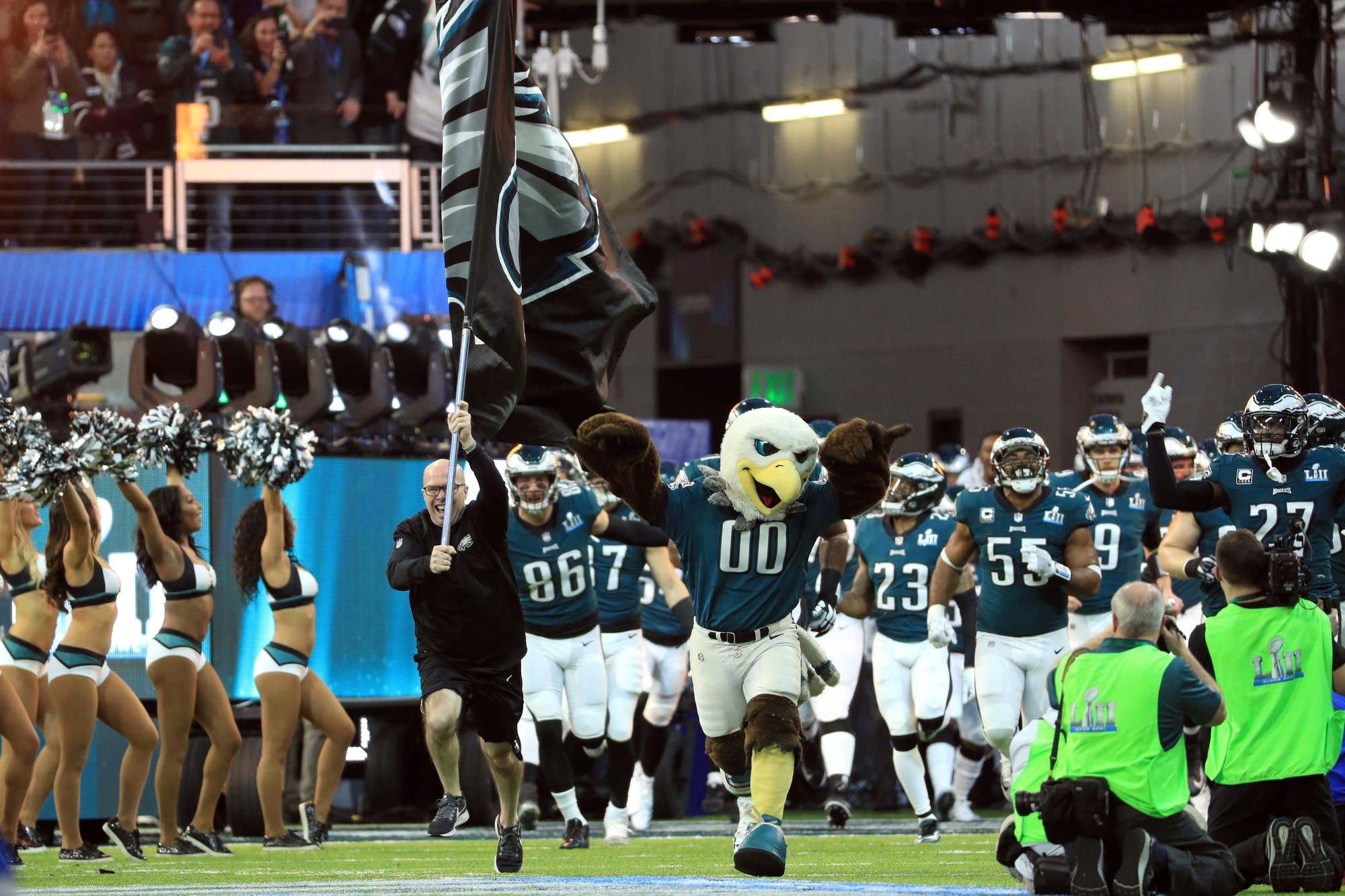 The Philadelphia Eagles take the field in Super Bowl LII.