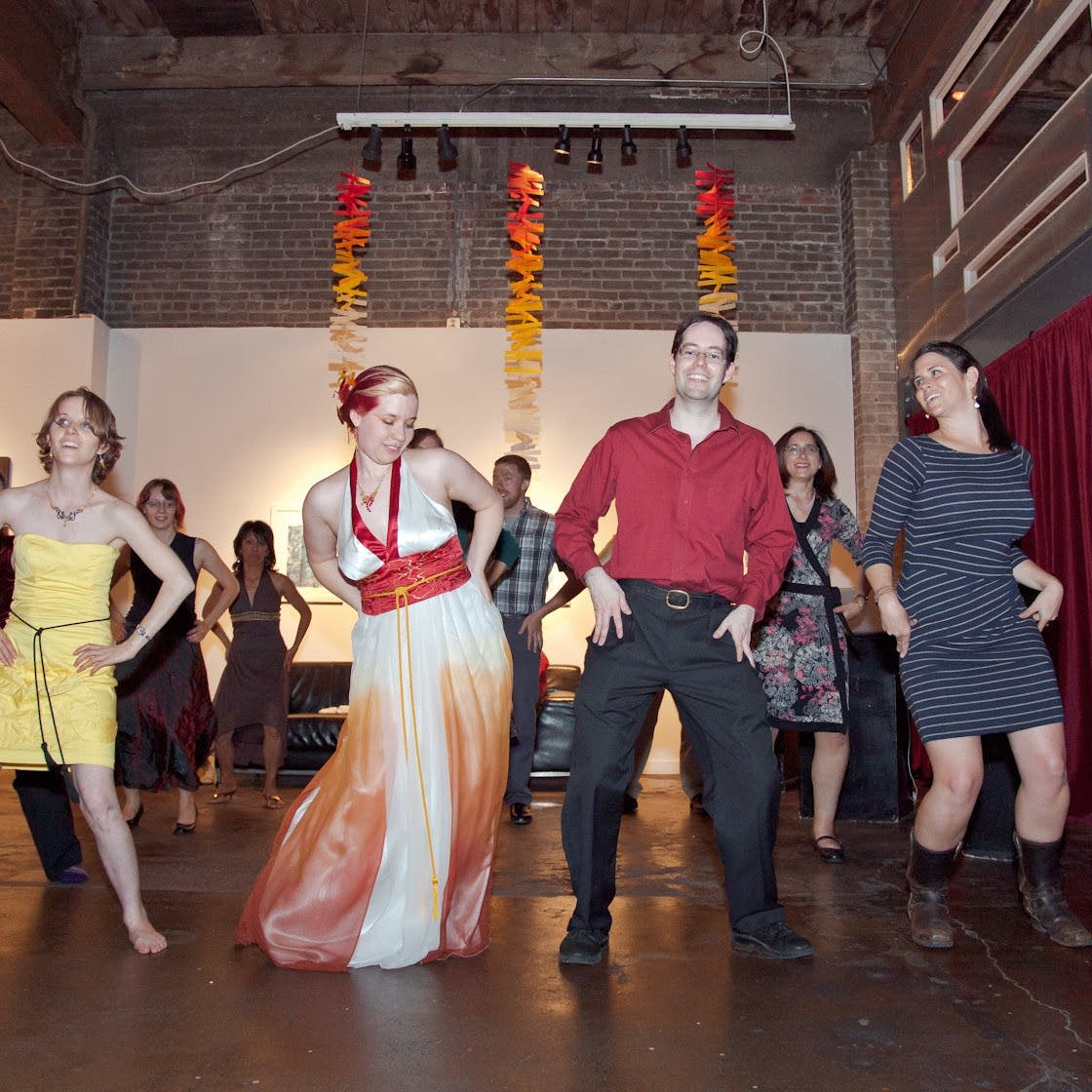 Dancing the Macarena at a Seattle wedding in 2012