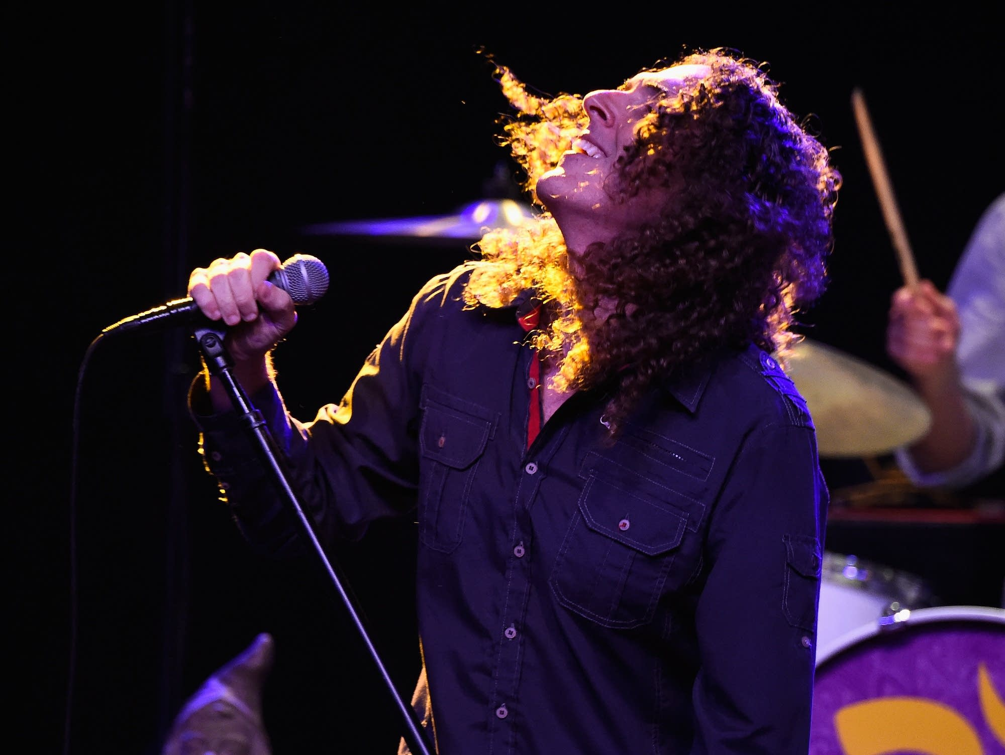 'Weird Al' Yankovic performs in Los Angeles in 2014.