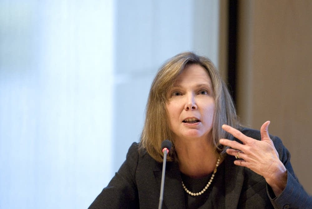 Nancy Barnes in a panel discussion