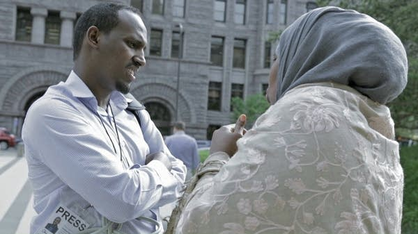 Reporter Mukhtar Ibrahim talks with Ayan Farah.