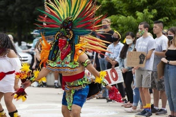 Mexica Aztec dancers.