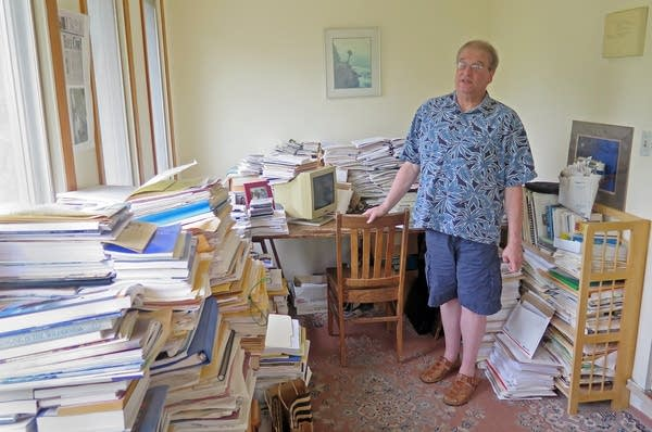 Jim Perlman stood in his home office.