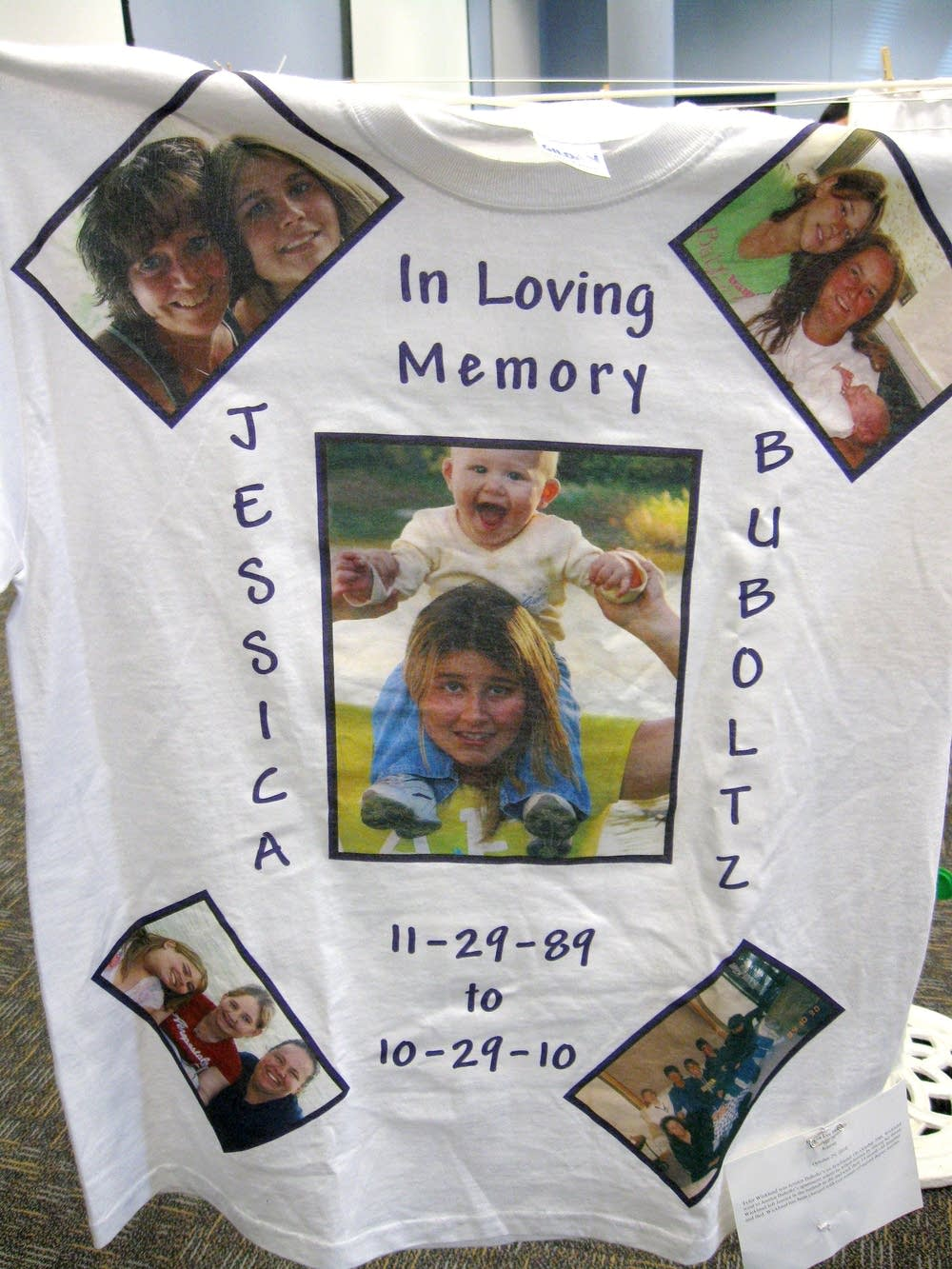 T-shirt memorial