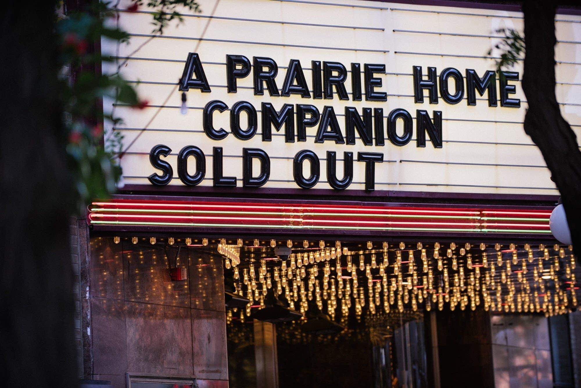 A Prairie Home Companion Season opener