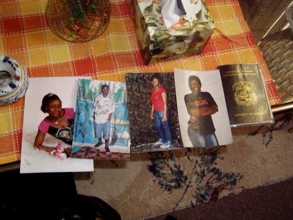 photos on table w/passport