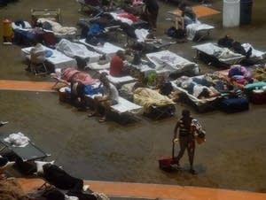 Residents seek shelter in San Juan, Puerto Rico