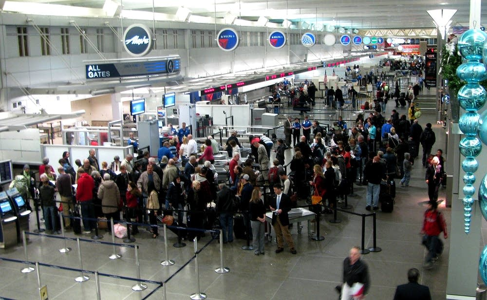Airport security line