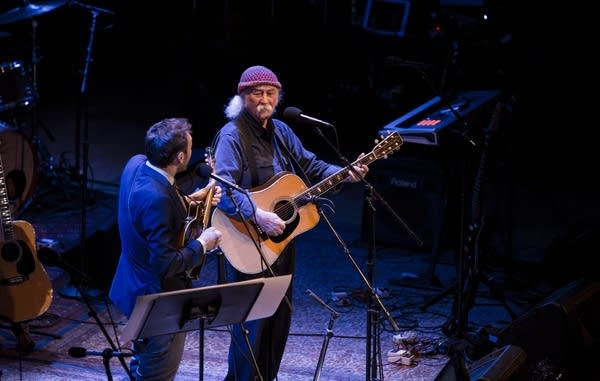 "David Crosby and Chris Thile perform ""Naked in the Rain"""