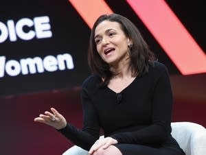 Sheryl Sandberg speaks onstage during The 2018 MAKERS Conference.