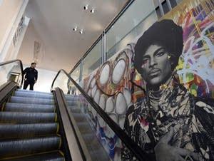 A tribute mural