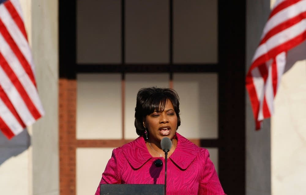 Bernice King speaks at the DNC in Denver