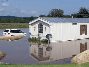 A flooded home near Decorah