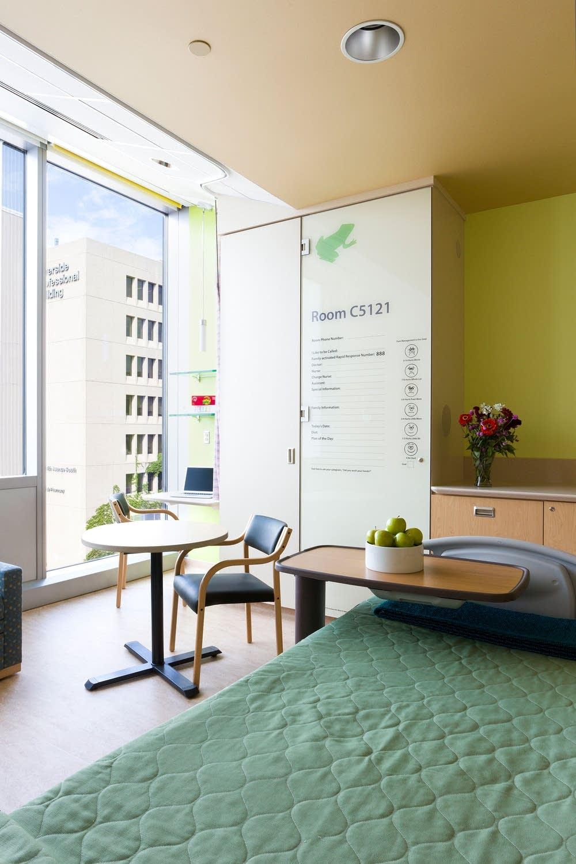 Patient room interior