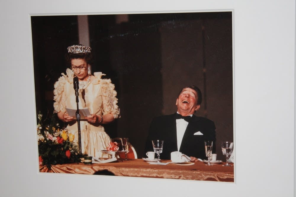 Photo of Ronald Reagan and Queen Elizabeth II