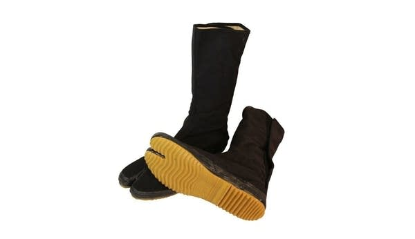 Pair of Ninja Tabi boots which are split in the toe section