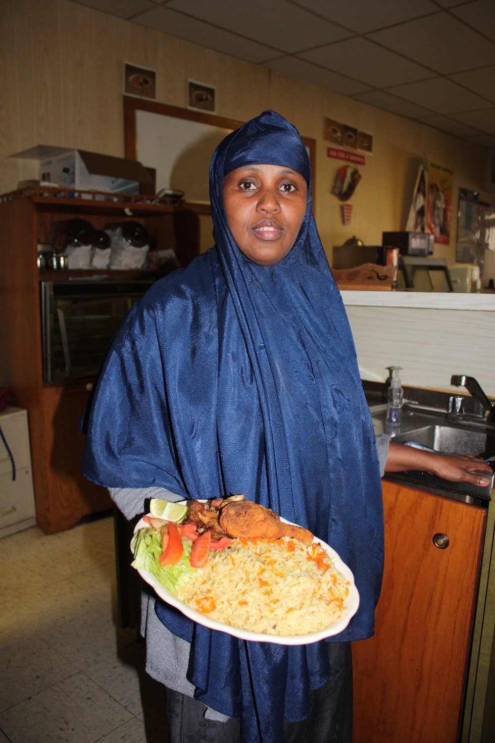 Sahro Farah runs Bihi's restaurant with Mohemed