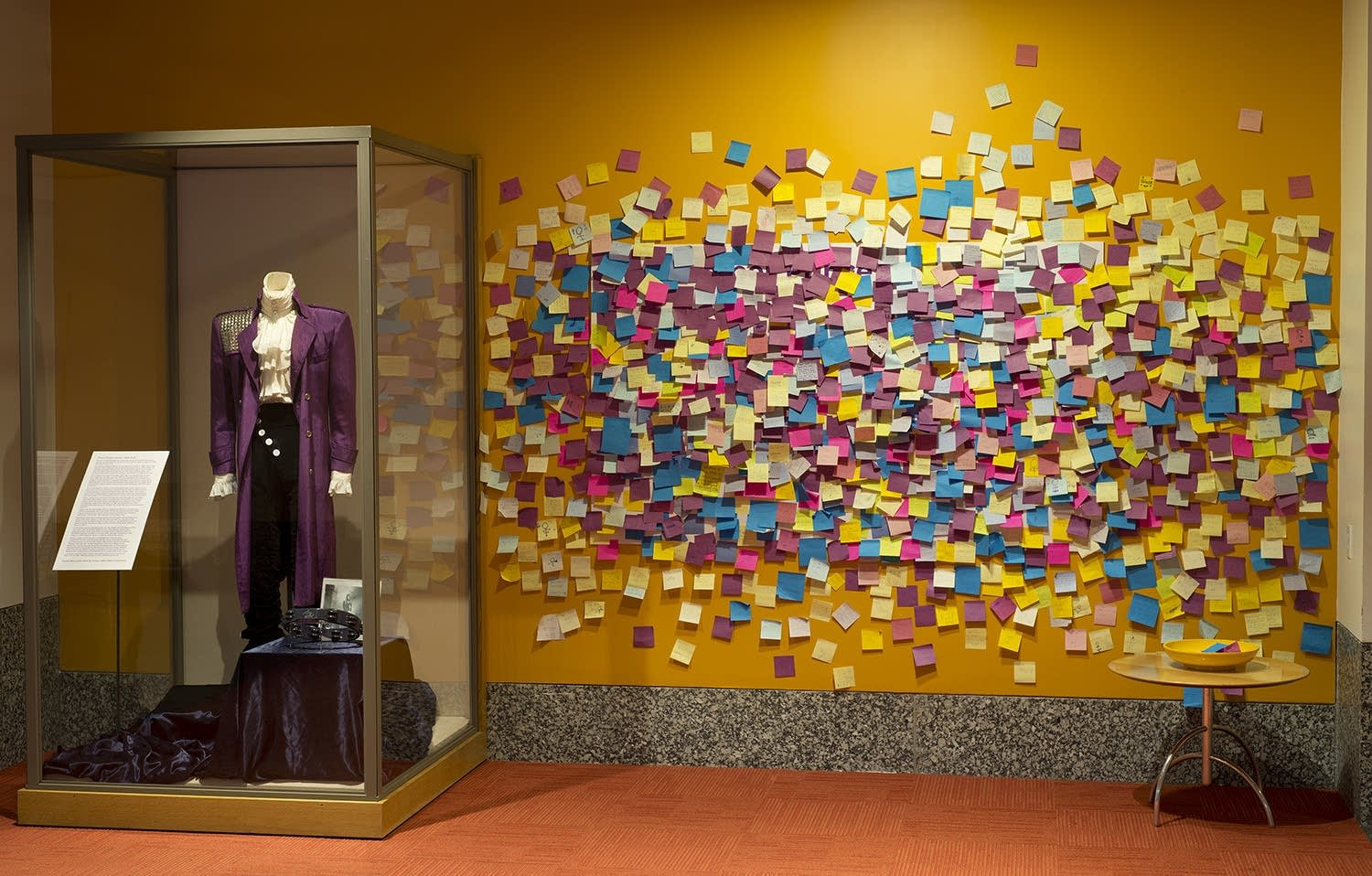 The Prince memorial at the Minnesota History Center in April 2016.