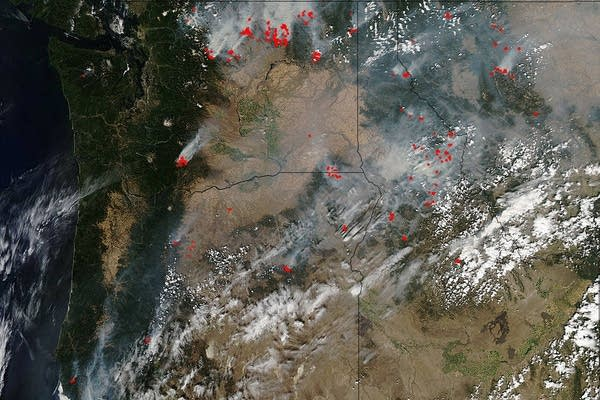 Wildfires as seen from space
