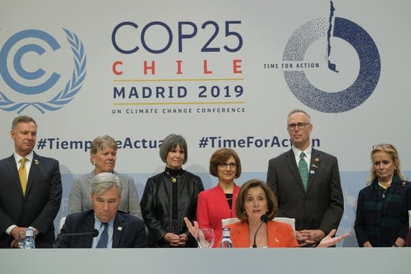 A U.S. congressional delegation at the COP25 climate conference.