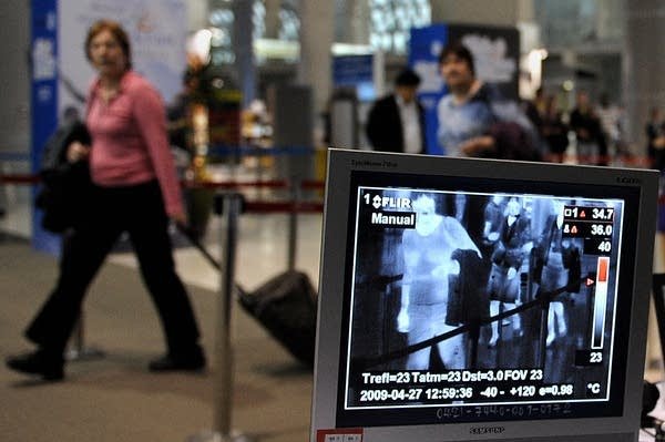 Airline travelers monitored