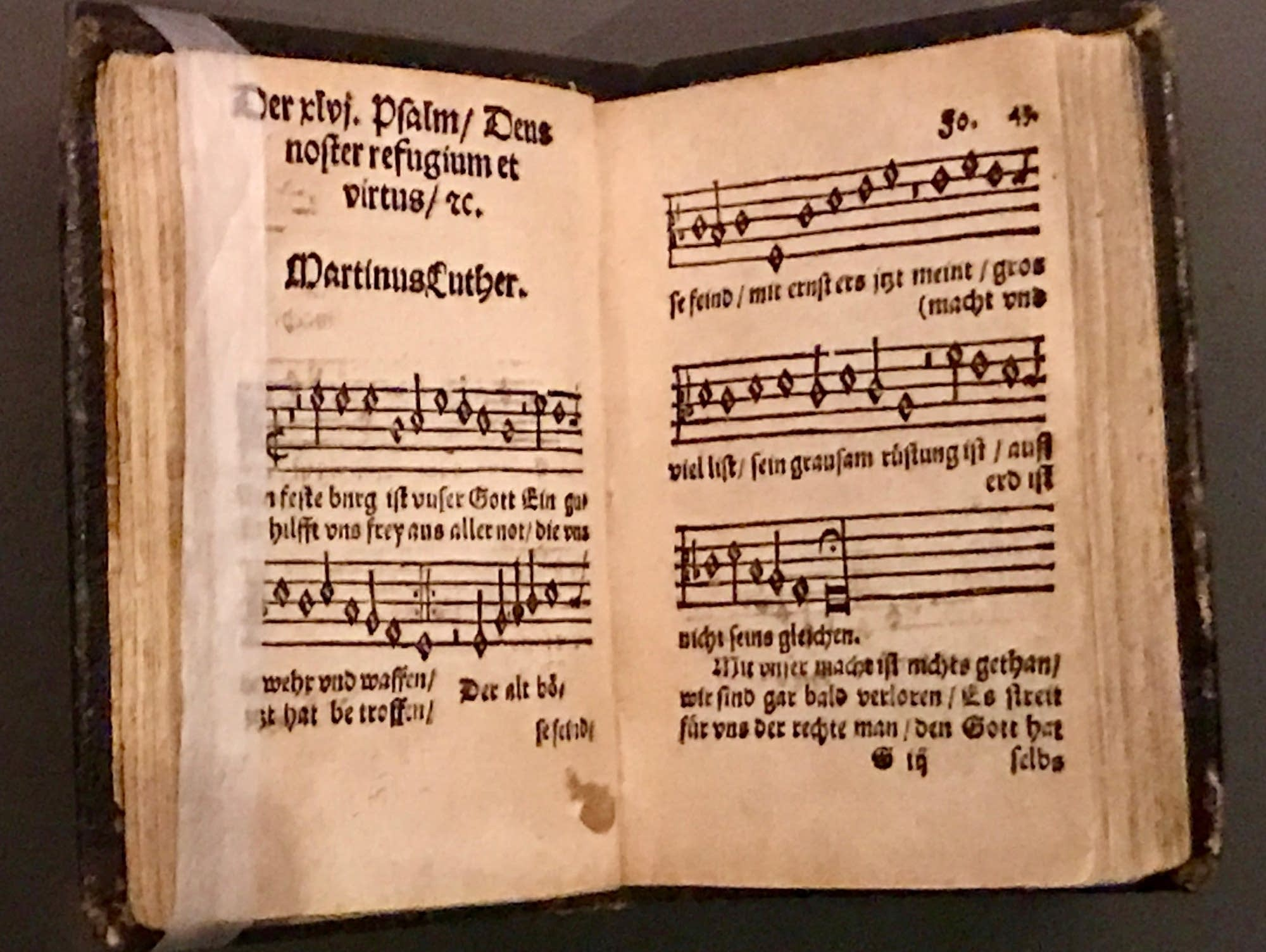 A rare early print of Martin Luther's hymn setting of Psalm 46.