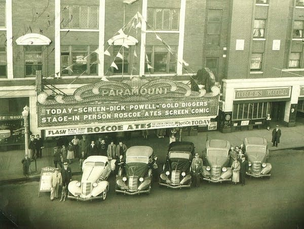 A view of the Paramount Theatre in downtown St. Cloud, circa 1930s.