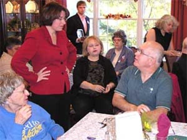 Klobuchar visits seniors