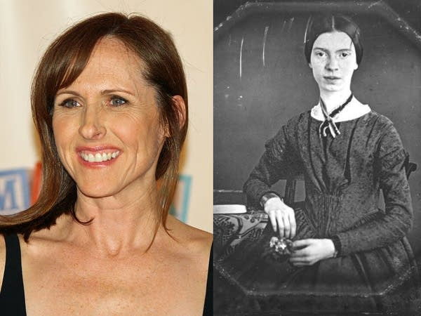Actress Molly Shannon and poet Emily Dickinson