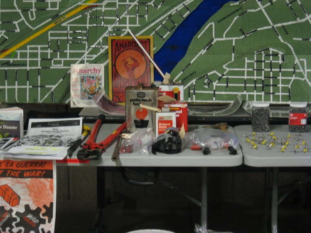 Items found by police in various RNC-related raids
