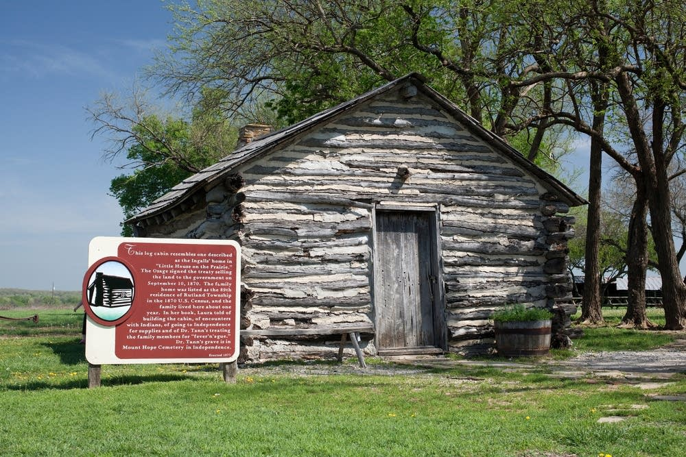 A replica of the Ingalls family cabin in Kansas