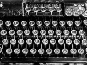 The Dvorak typewriter keyboard