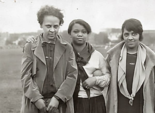 Ethel Ray Nance, left, in Minneapolis in 1926.