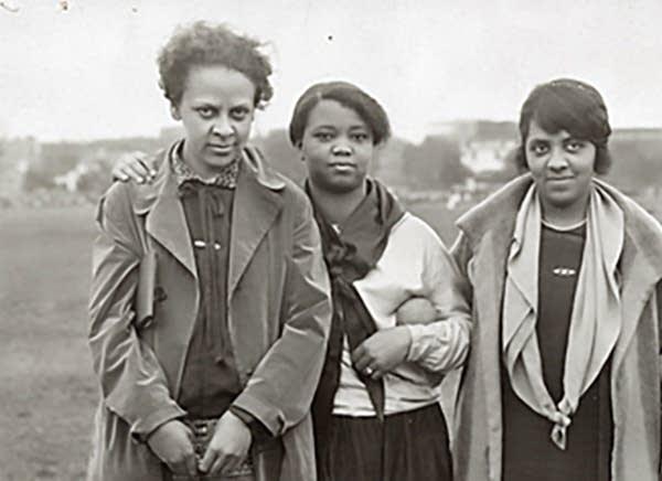 Ethel Ray Nance, left, in Minneapolis in 1926.