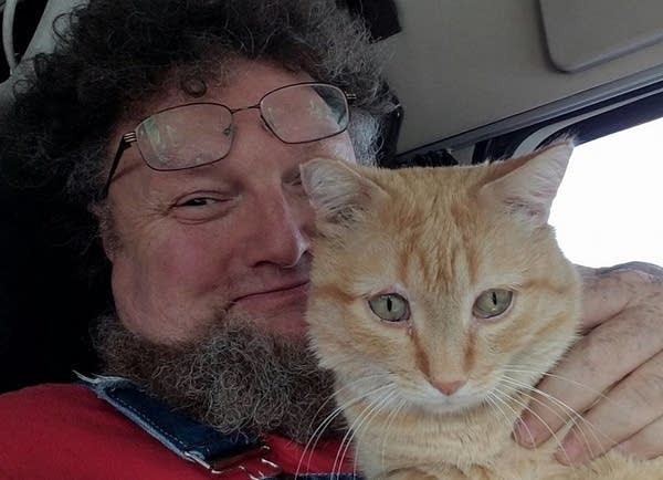 Percy and his owner Paul Robertson