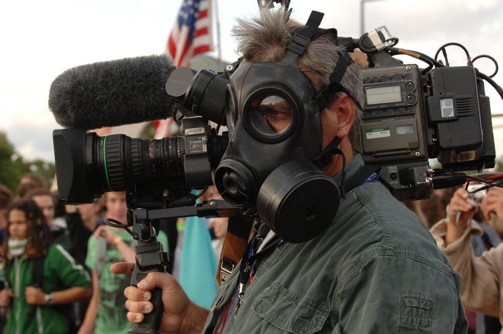 Protest cameraman