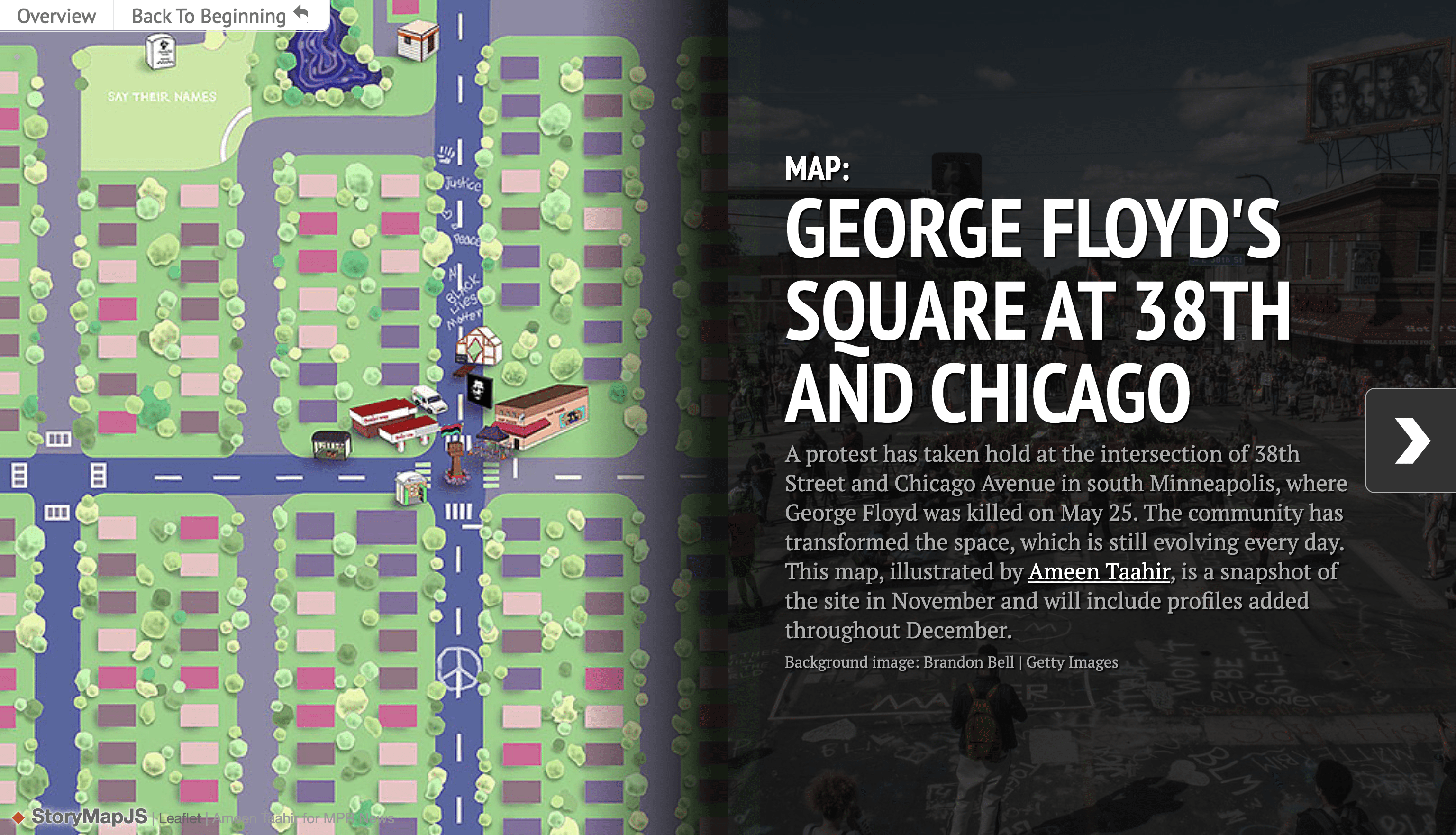 Click the image to view the full map of George Floyd's Square.
