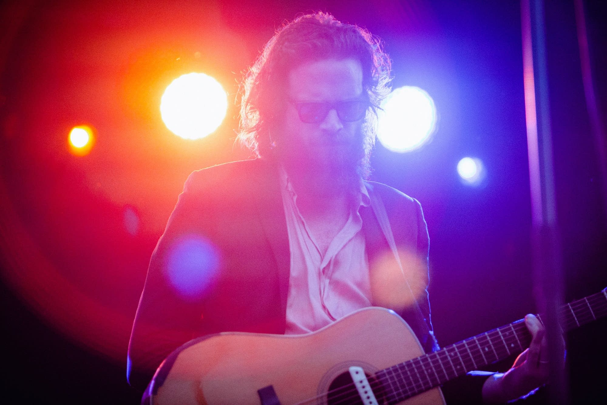 Father John Misty performs at Rock the Garden 2018.