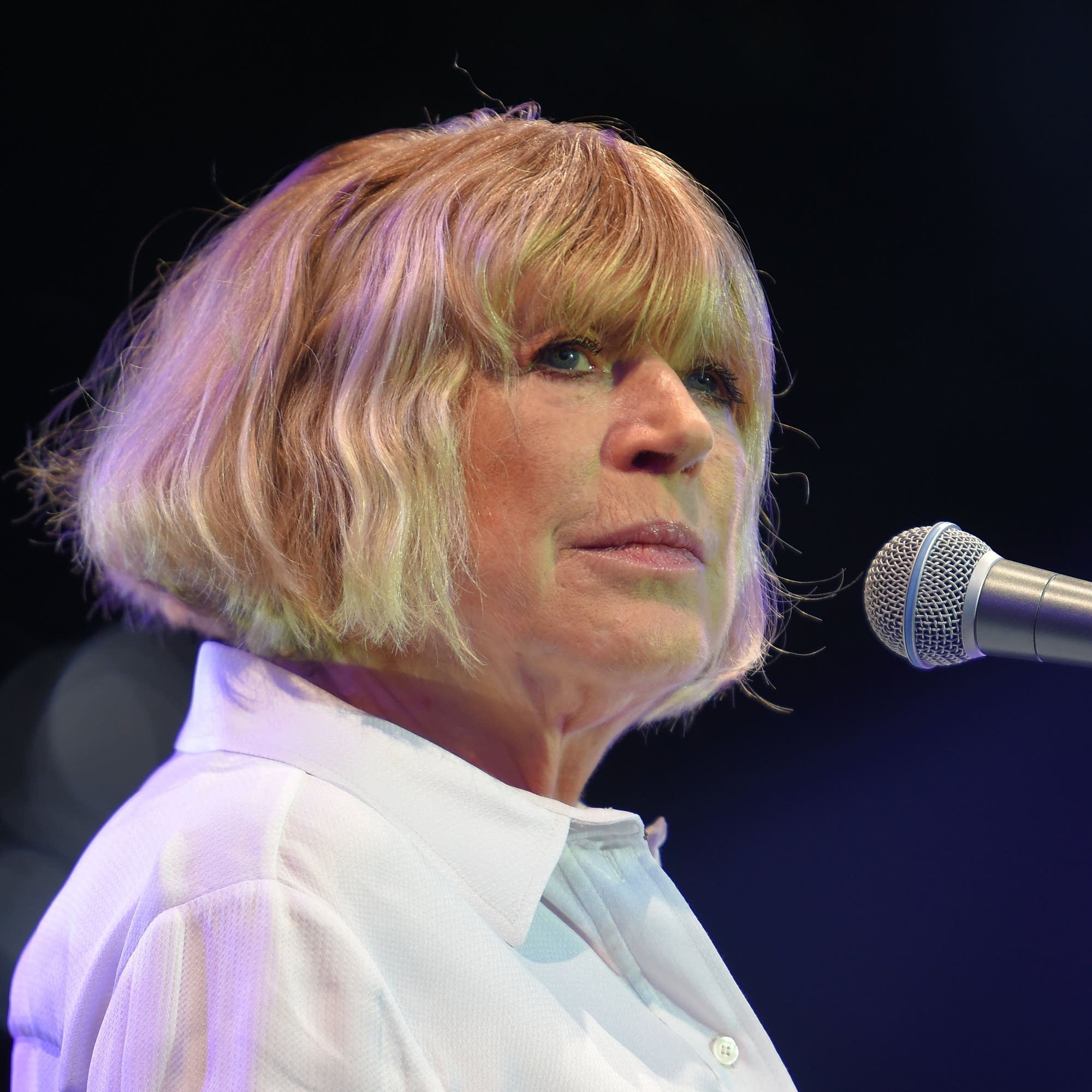 Marianne Faithfull onstage in France, 2016.